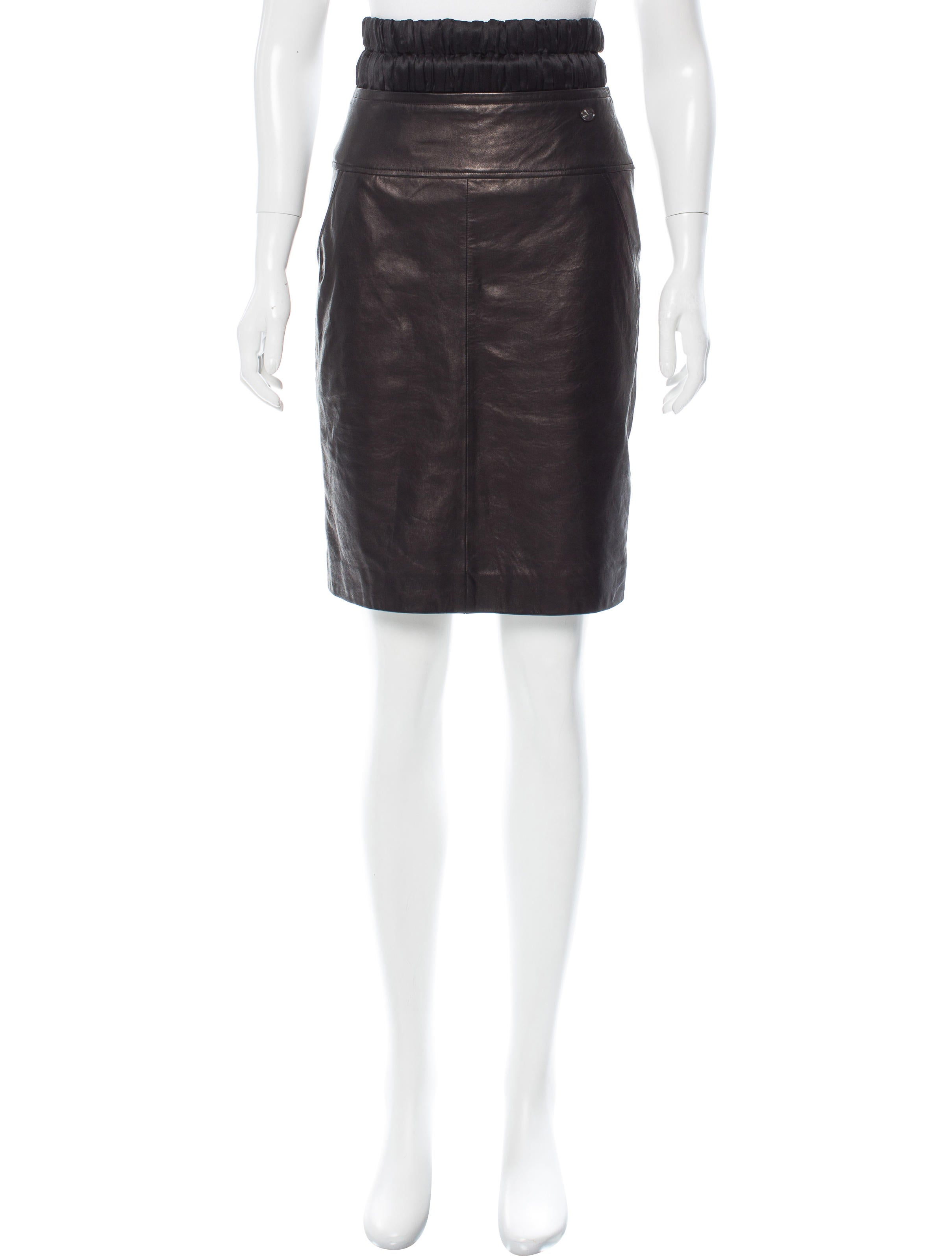 chanel leather pencil skirt clothing cha170081 the