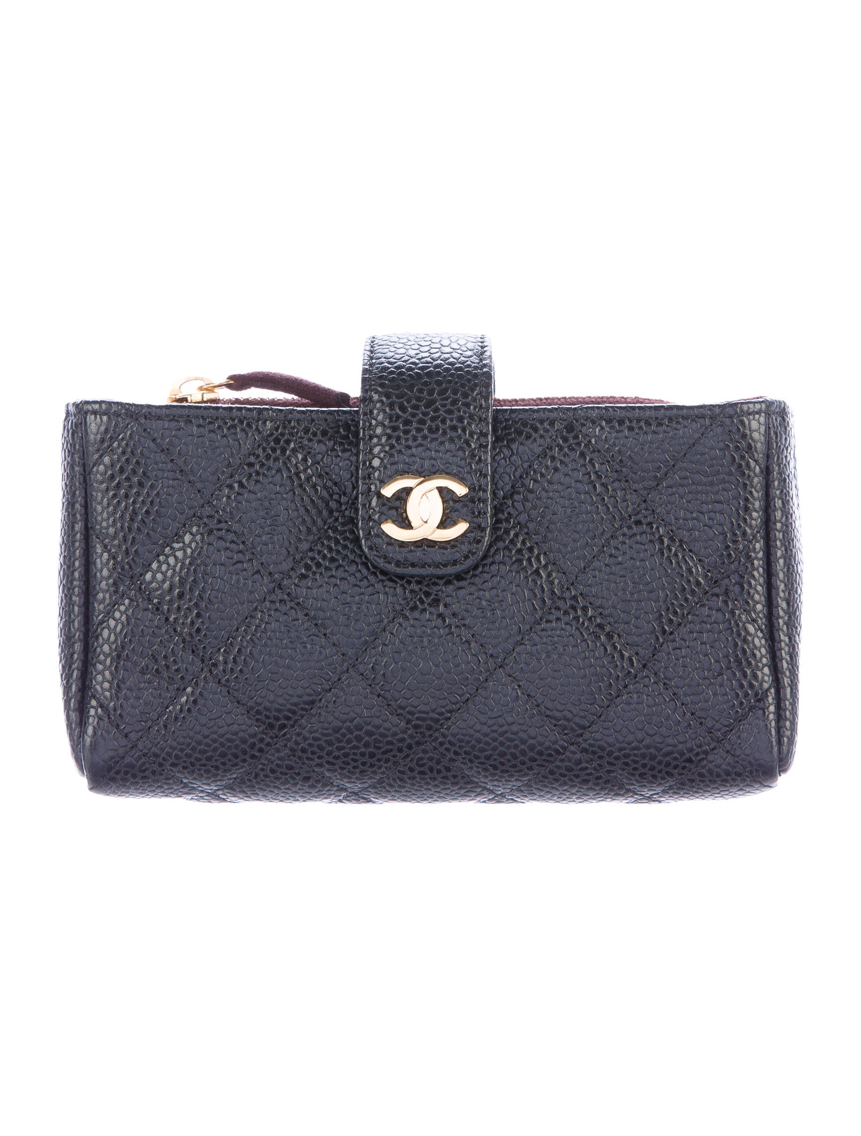 Chanel Quilted Caviar O-Phone Holder - Accessories ...