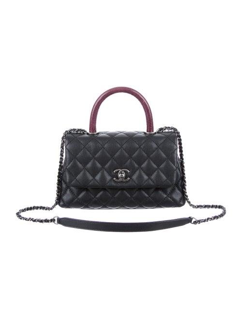 056da100994746 Chanel 2015 Lizard-Trimmed Mini Coco Handle Bag - Handbags ...
