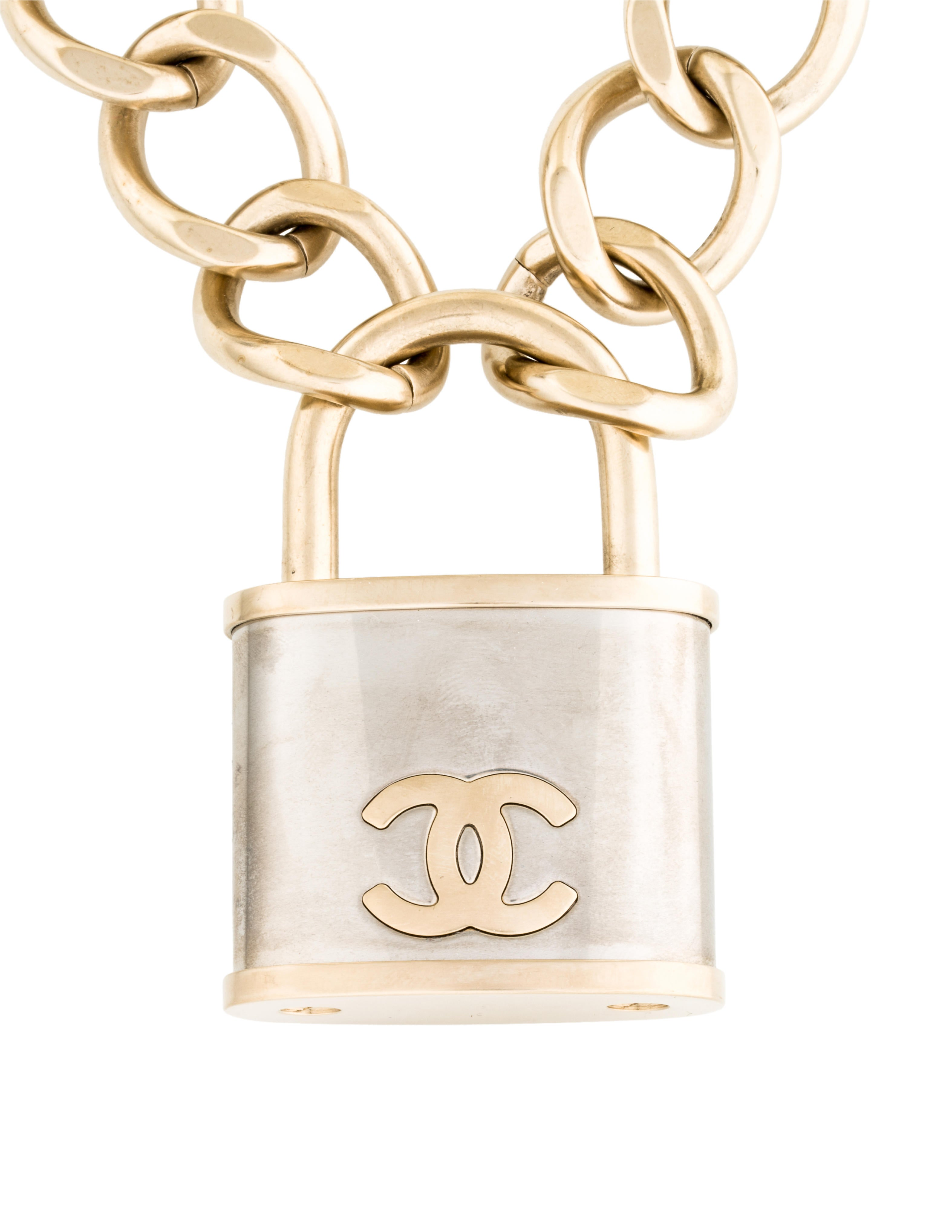 Chanel Cc Padlock Statement Necklace W Tags Necklaces