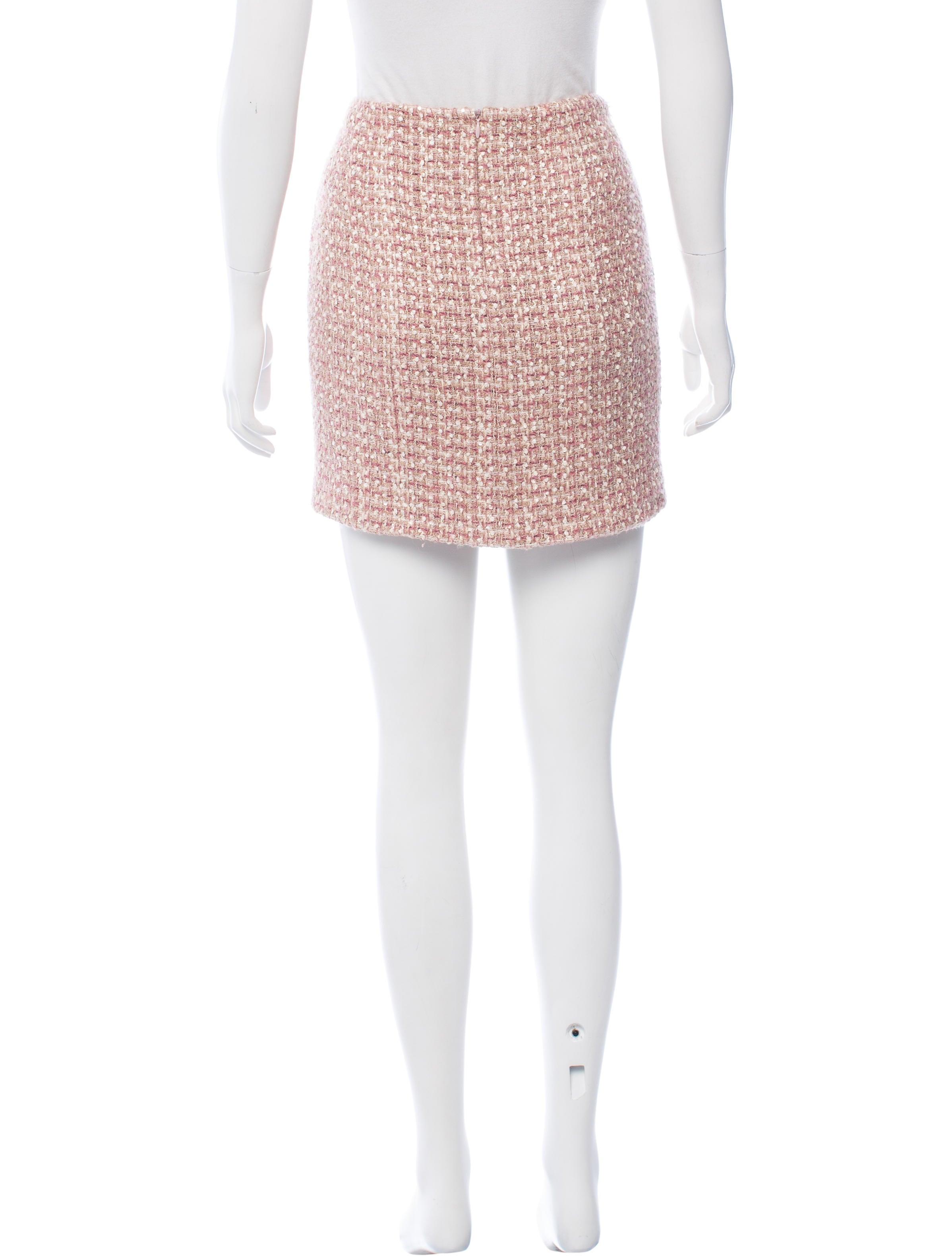 chanel tweed mini skirt clothing cha170943 the realreal