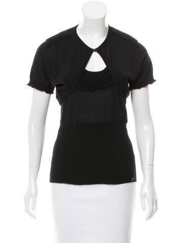 Chanel Cashmere Shrug Set None