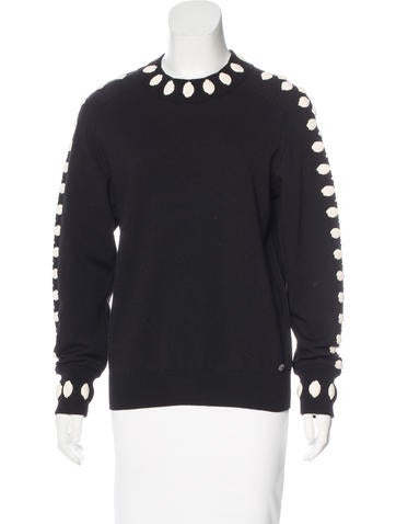 Chanel 2015 Camellia Wool Sweater None