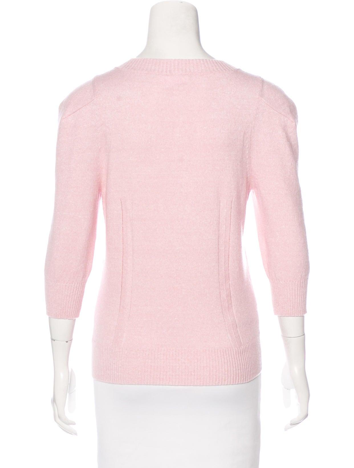 Chanel Knit Three-Quarter Sleeve Cardigan - Clothing - CHA171365 The RealReal