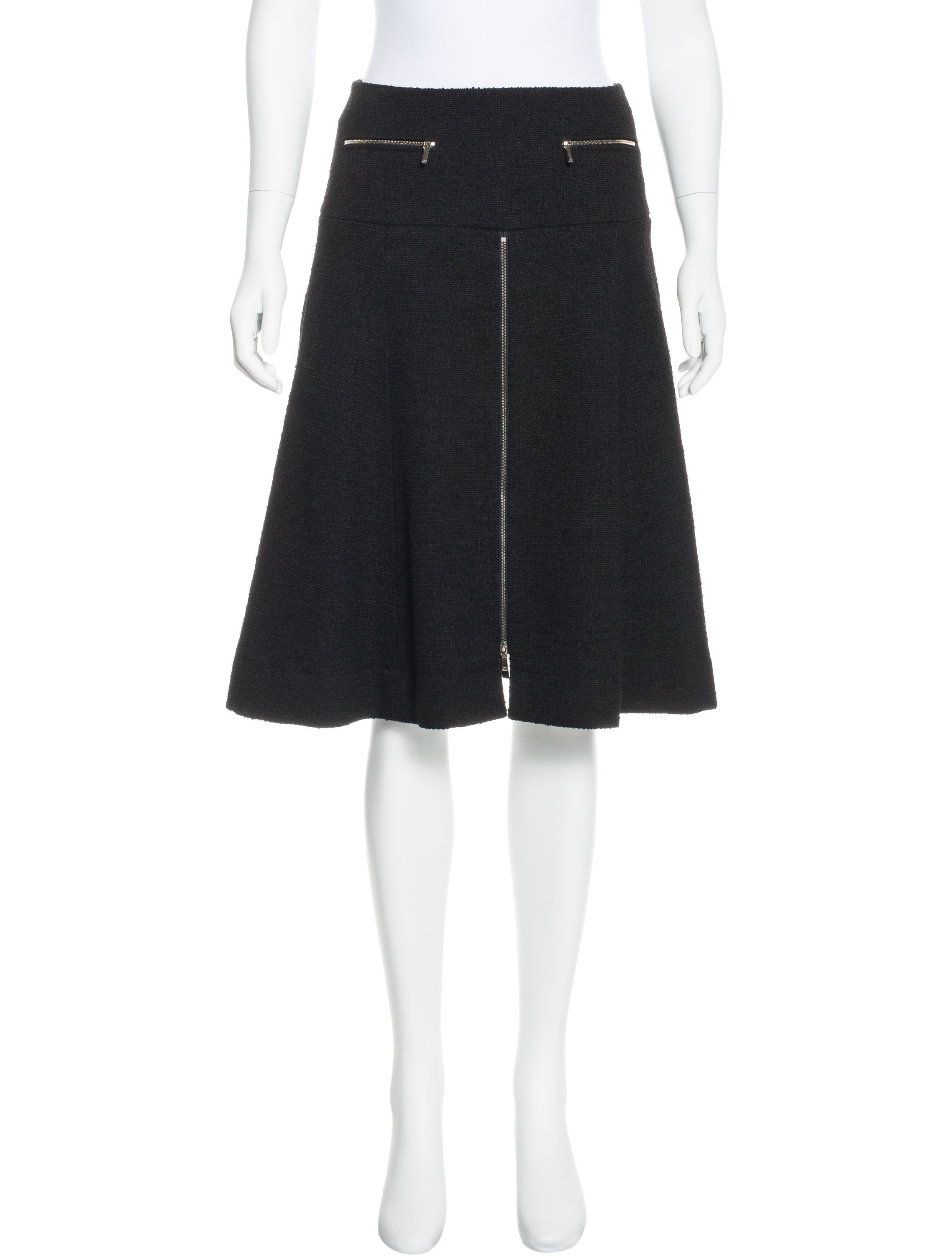 chanel wool tweed skirt clothing cha171556 the realreal