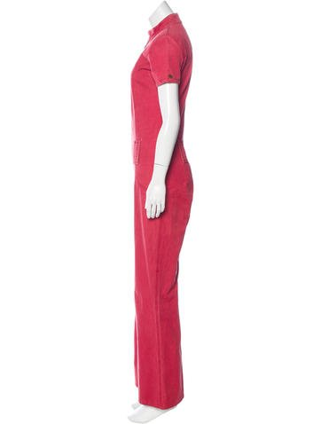 28c5a4b7f5e0 Chanel Wide-Leg Denim Jumpsuit - Clothing - CHA172363