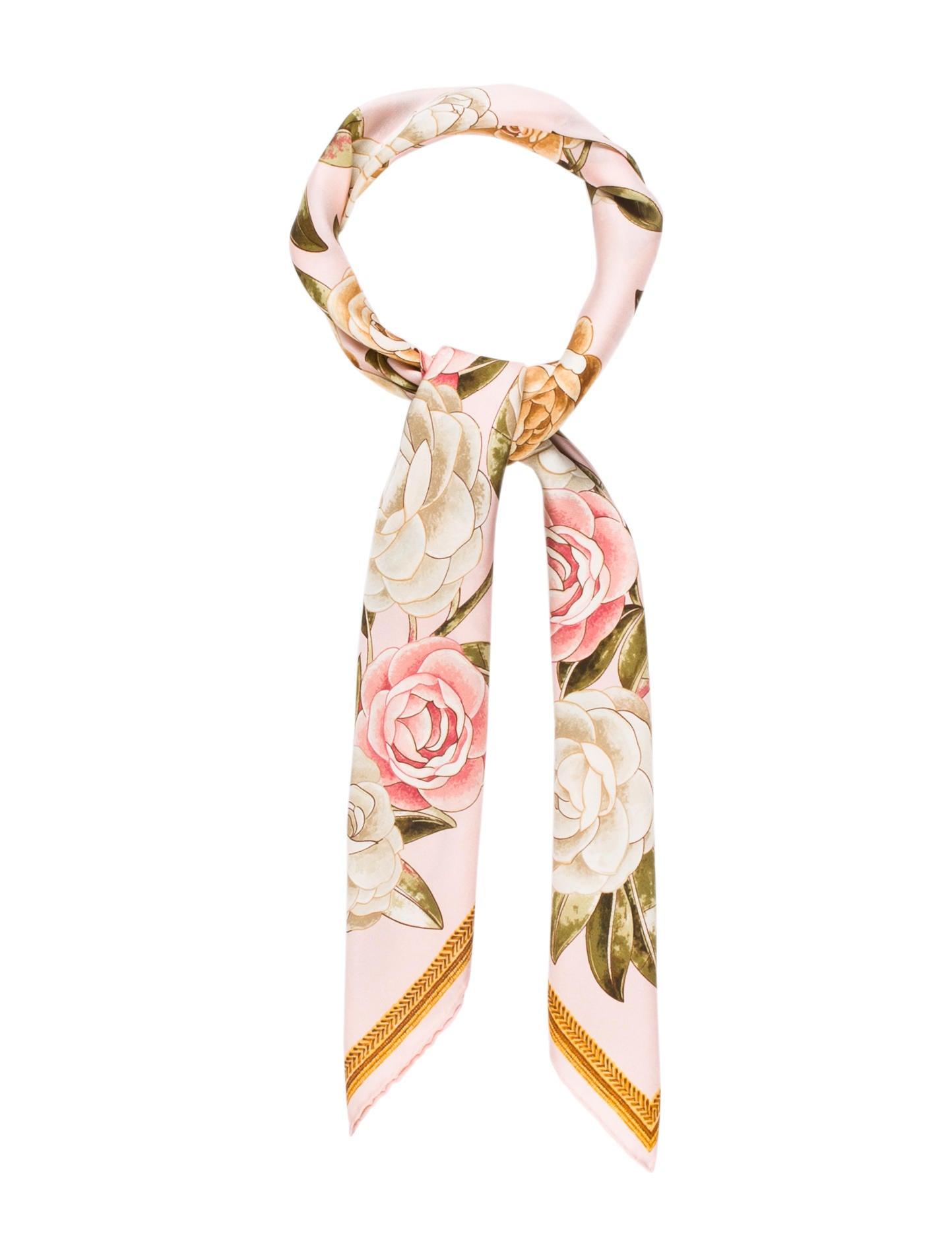 2d3fef267658 Chanel Camellia Silk Scarf - Accessories - CHA172752   The RealReal