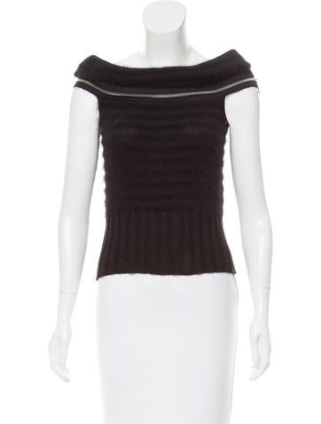 Chanel Sleeveless Knit Top w/ Tags None