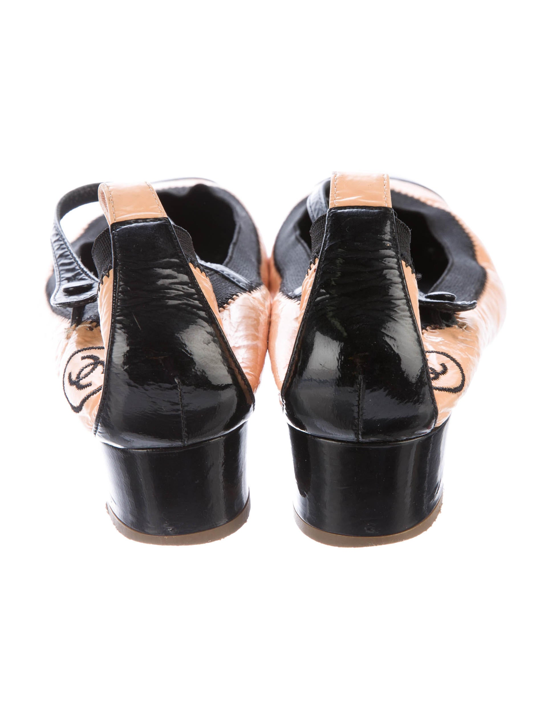 chanel stretch spirit patent leather pumps shoes