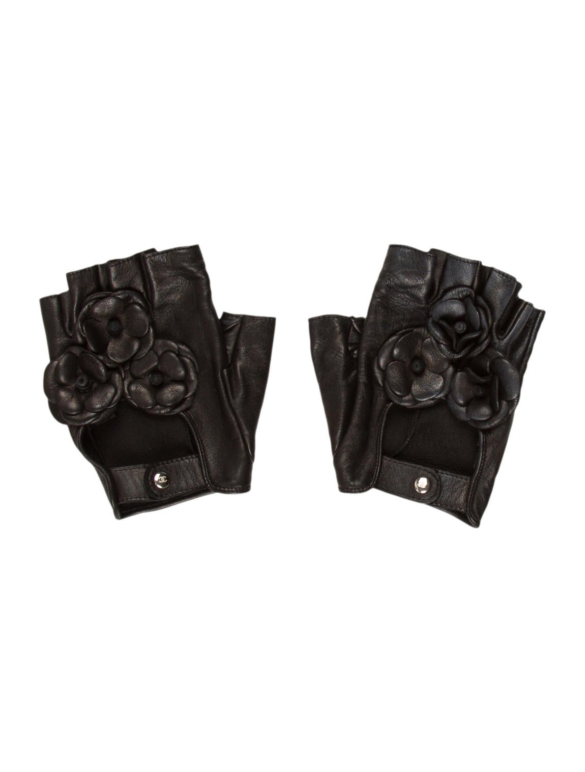 Chanel Camellia Fingerless Gloves - Accessories ...