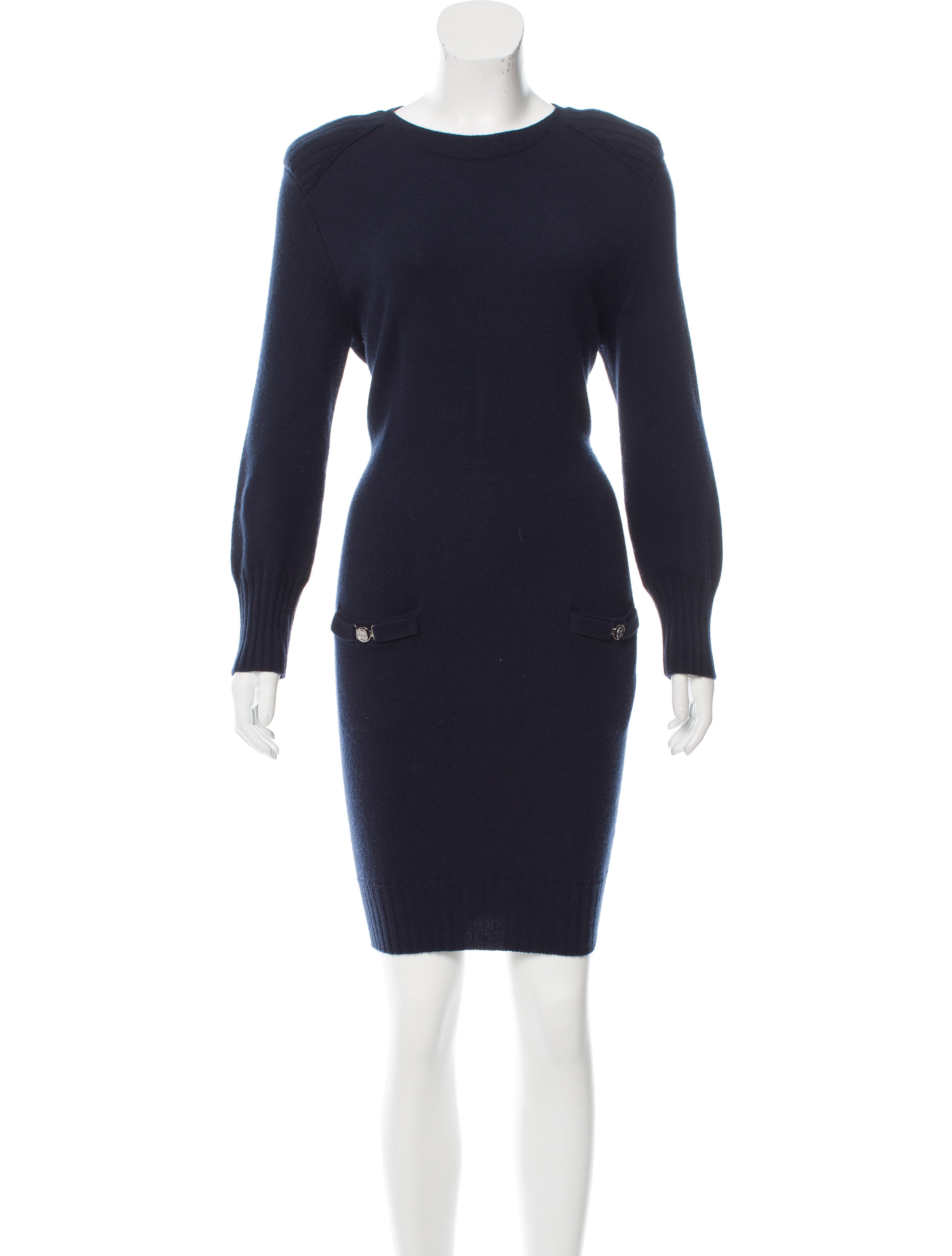 Chanel Wool Sweater Dress - Clothing - CHA173184 | The RealReal
