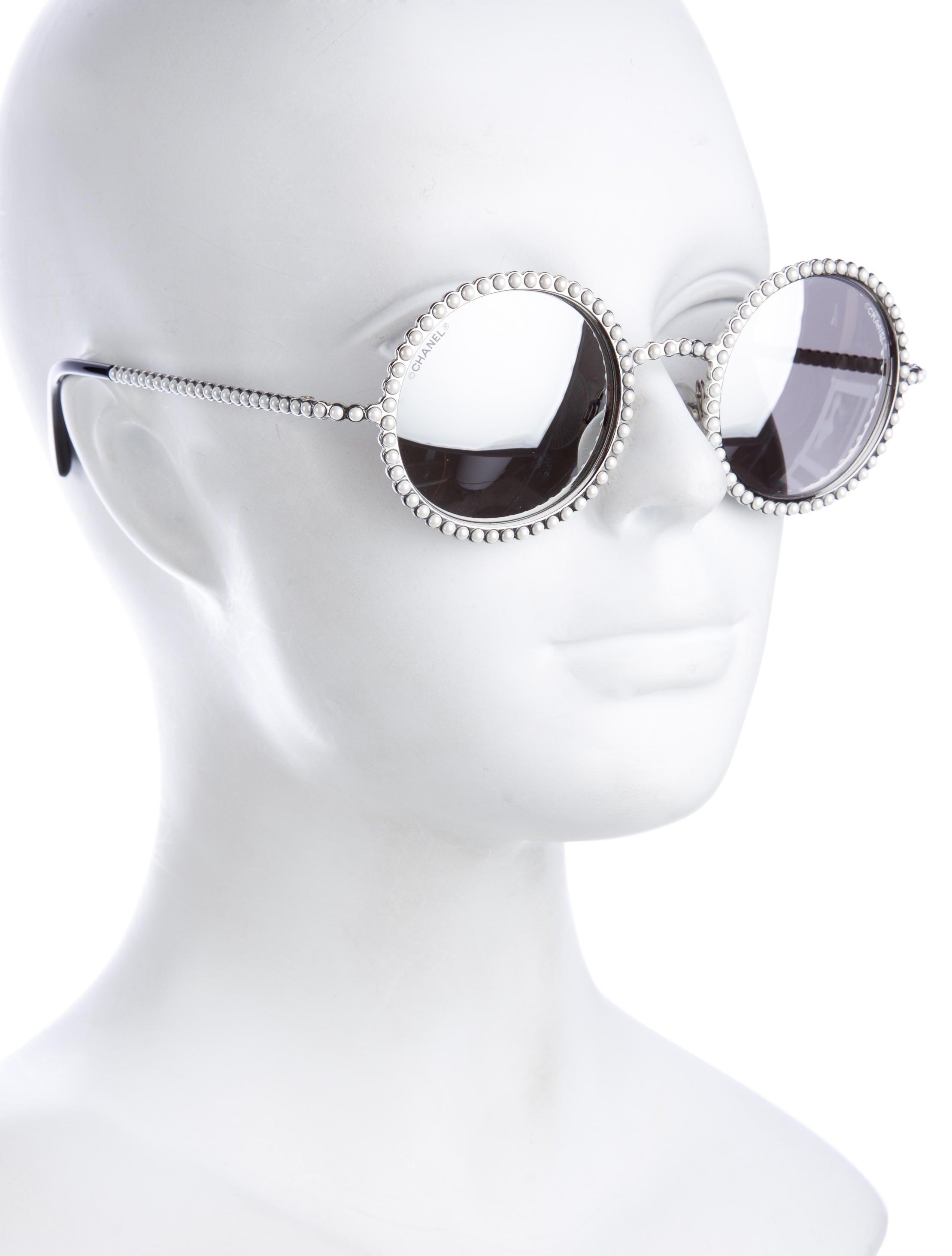 ff2d7232b1 Chanel 2016 Pearl Round Sunglasses - Accessories - CHA173909