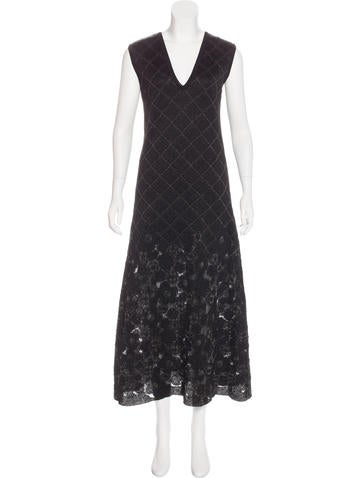 Chanel Paris-Edinburgh Metallic Knit Dress None