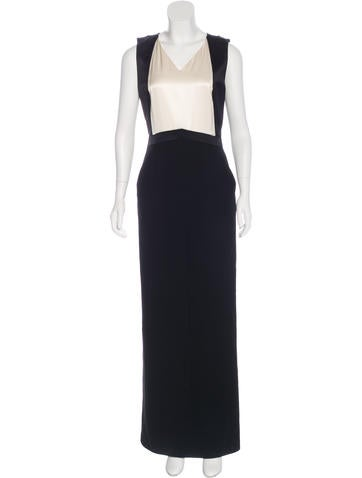 Chanel Wool Evening Gown None