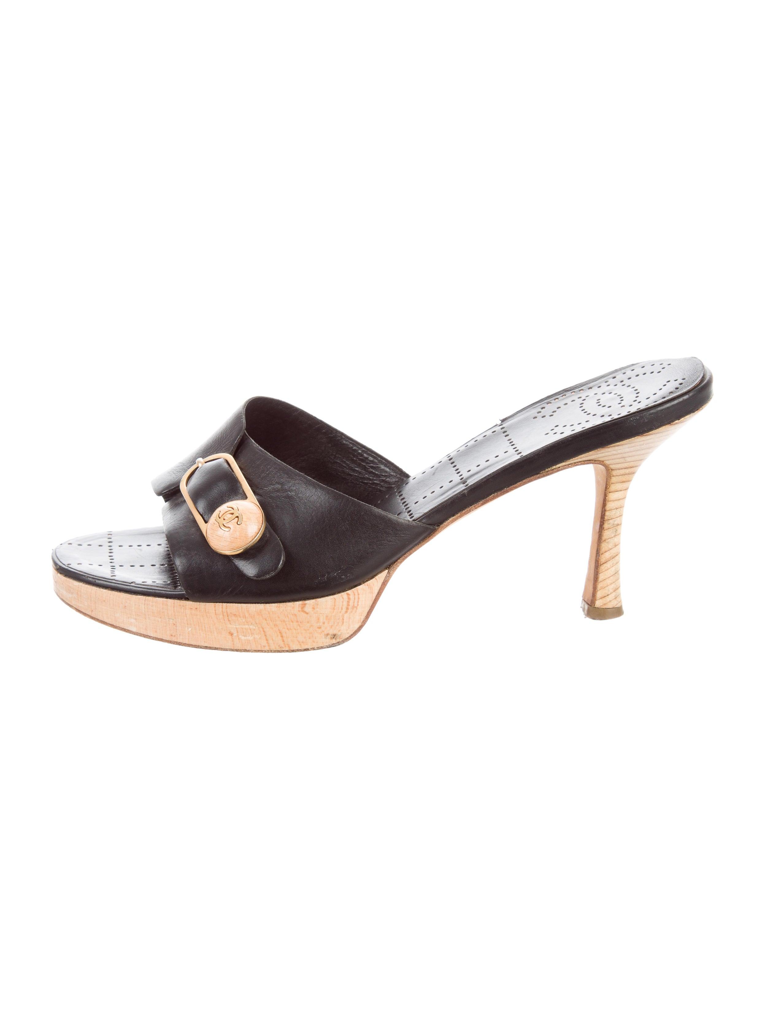 chanel slide sandals   28 images   chanel camellia slide