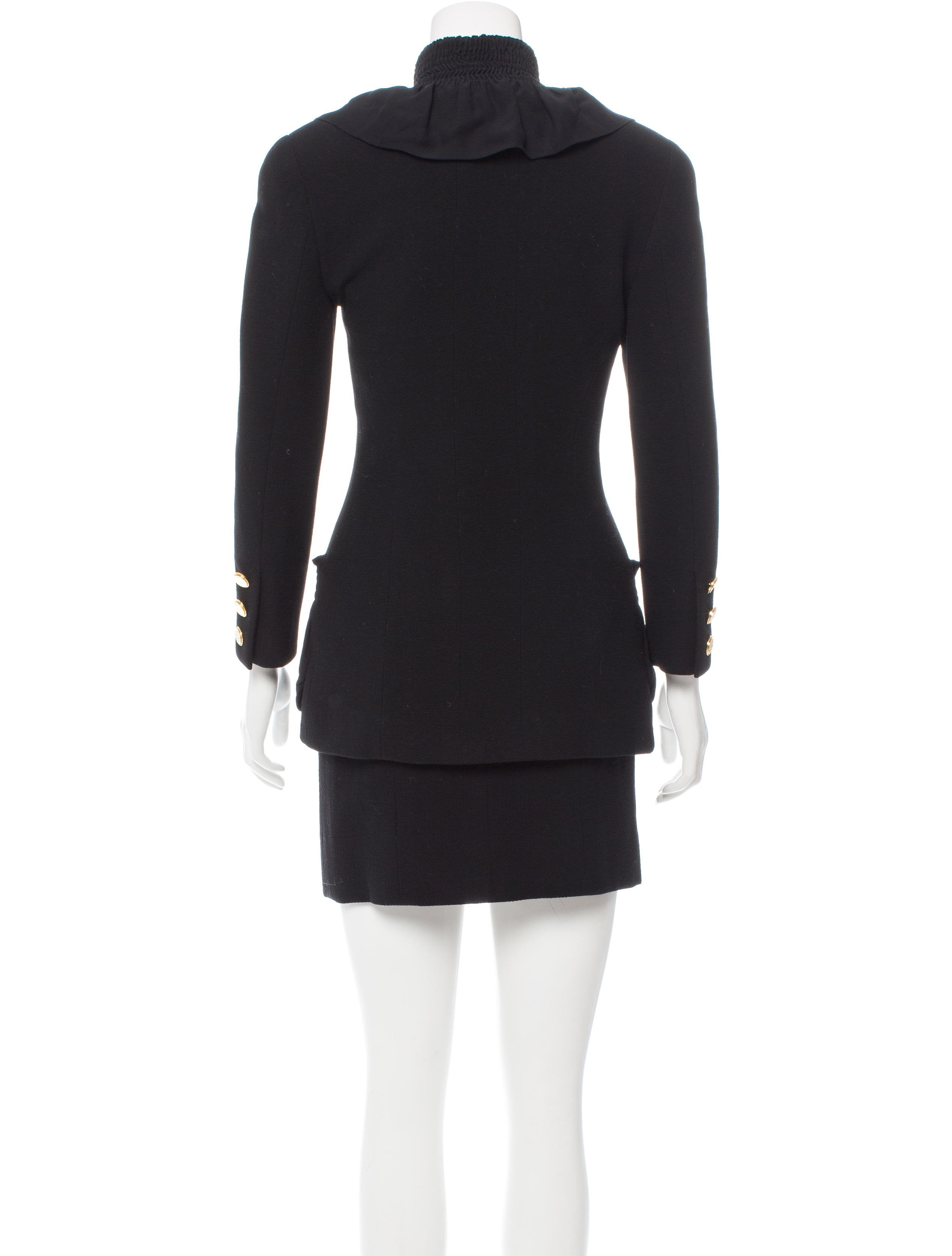 Chanel Gathered Mini Skirt Suit Clothing Cha174211