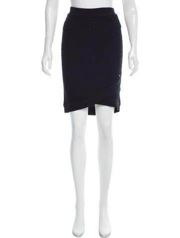Chanel Rib Knit Wool Skirt None