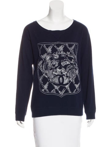 Chanel Cashmere Embroidered Sweater None