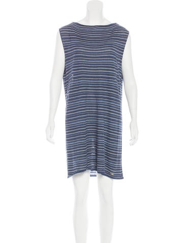 Chanel Striped Sleeveless Dress None