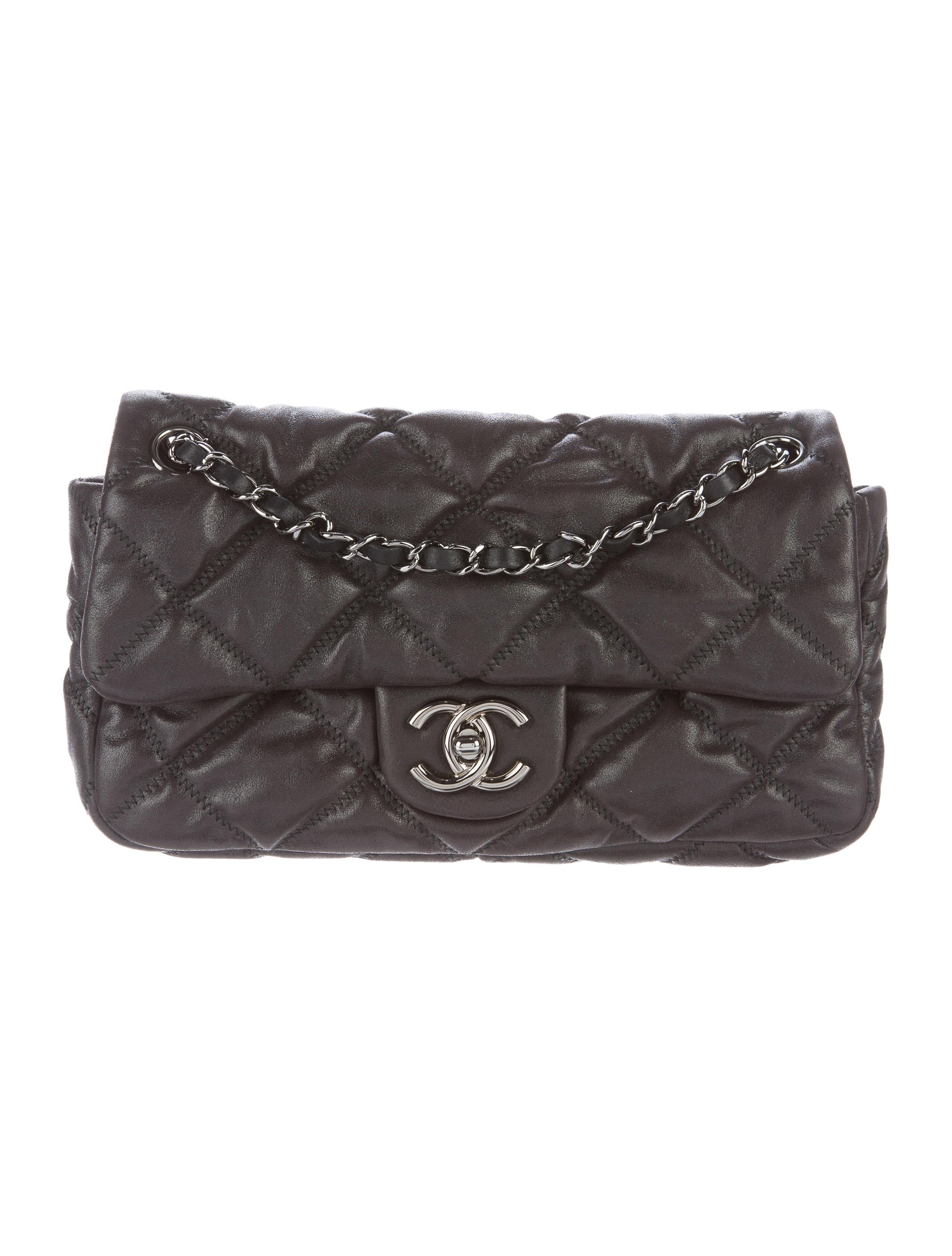 Chanel Small Bubble Quilted Flap Bag Handbags