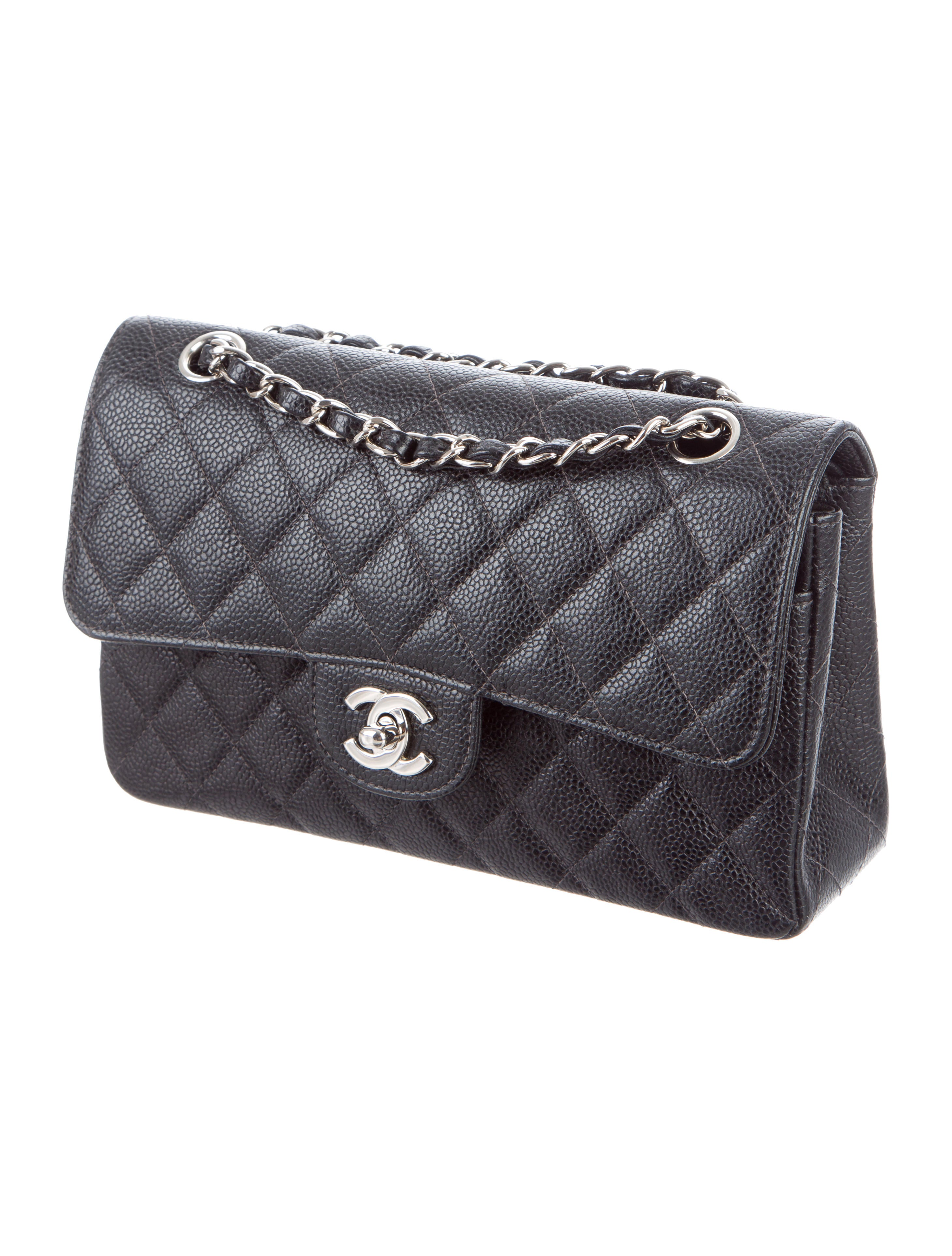 8c5c09526e76 Chanel Flap Bag Small Caviar. Chanel Black Quilted Caviar Small Classic ...