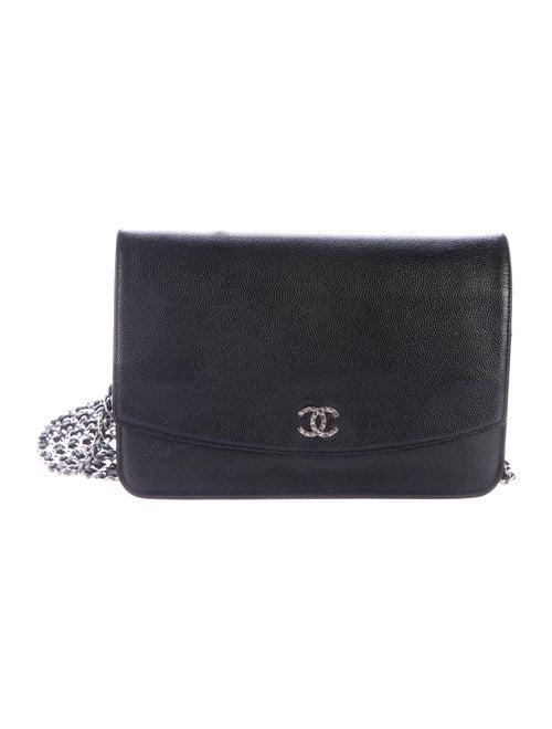 d256744d76f6b9 Chanel Caviar Sevruga Wallet On Chain - Handbags - CHA175702 | The ...