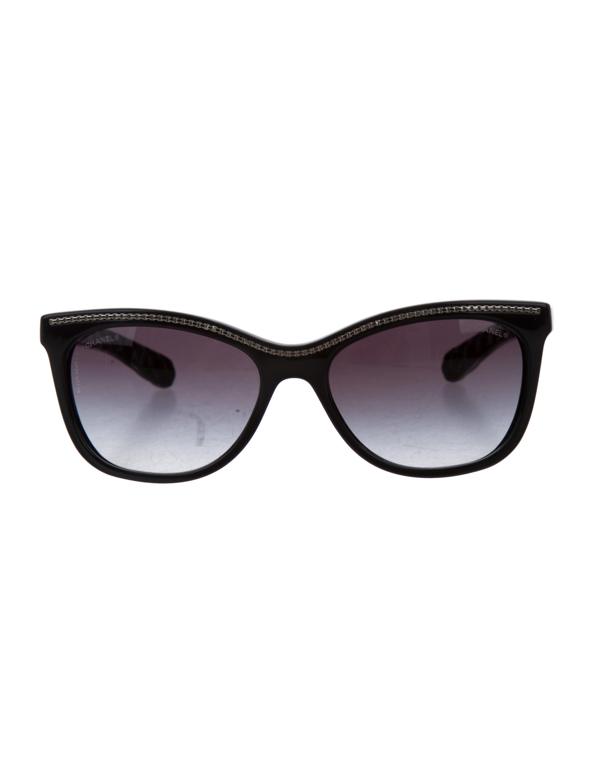 f16107e30b Chanel Embellished Cat-Eye Sunglasses - Accessories - CHA175848 ...