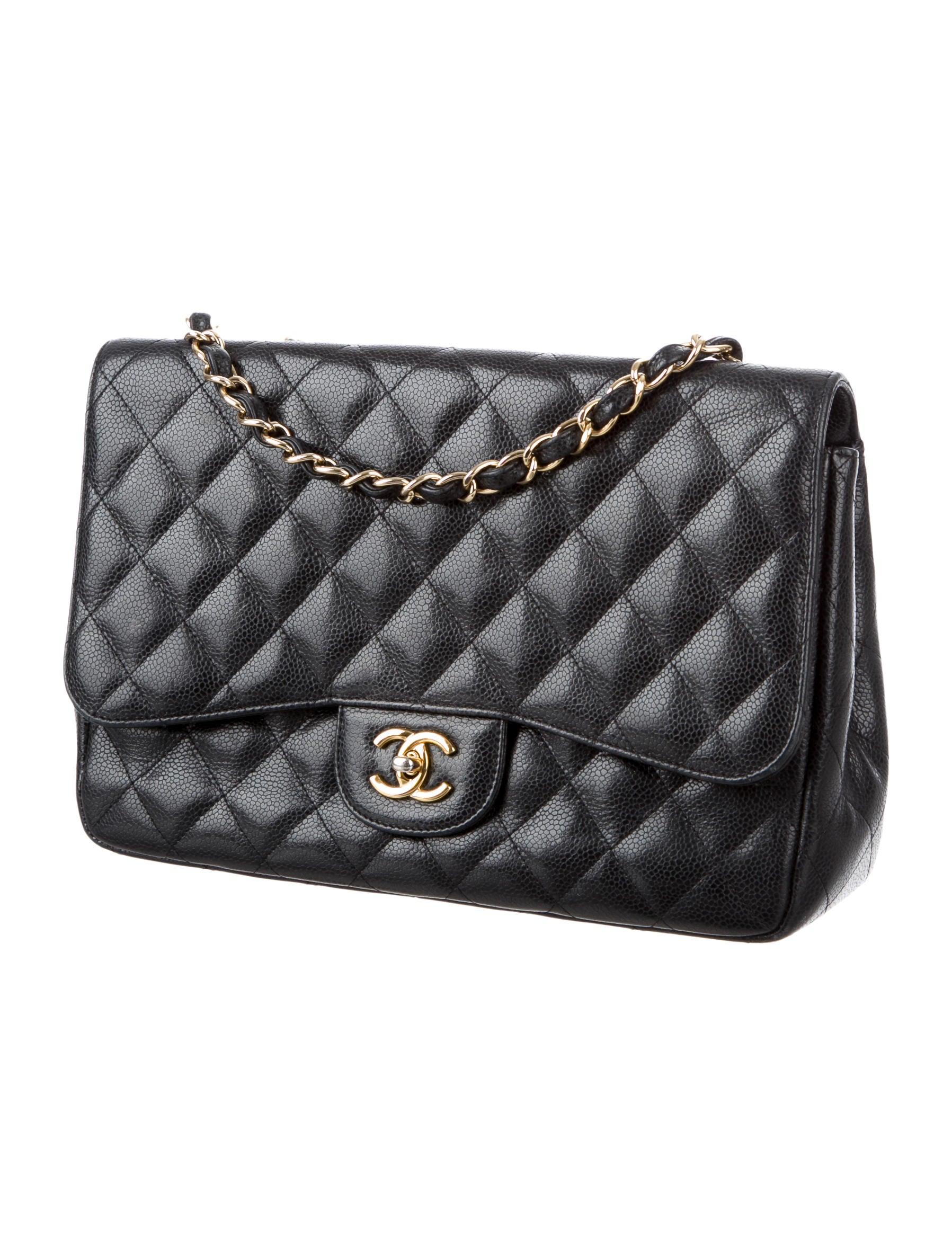 fe126c2dd599 Chanel Caviar Classic Jumbo Single Flap Bag - Handbags - CHA176007   The  RealReal