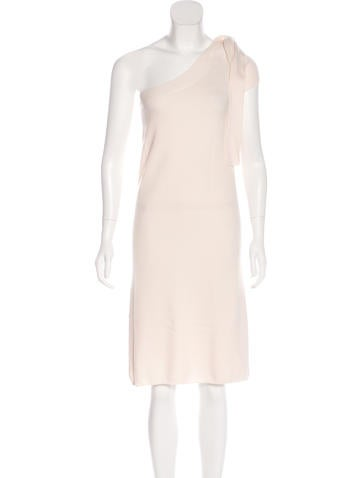 Chanel One-Shoulder Wool Dress None