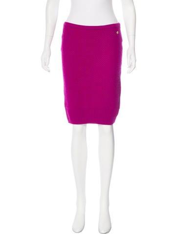 Chanel Paris-Bombay Cashmere Knit Skirt None