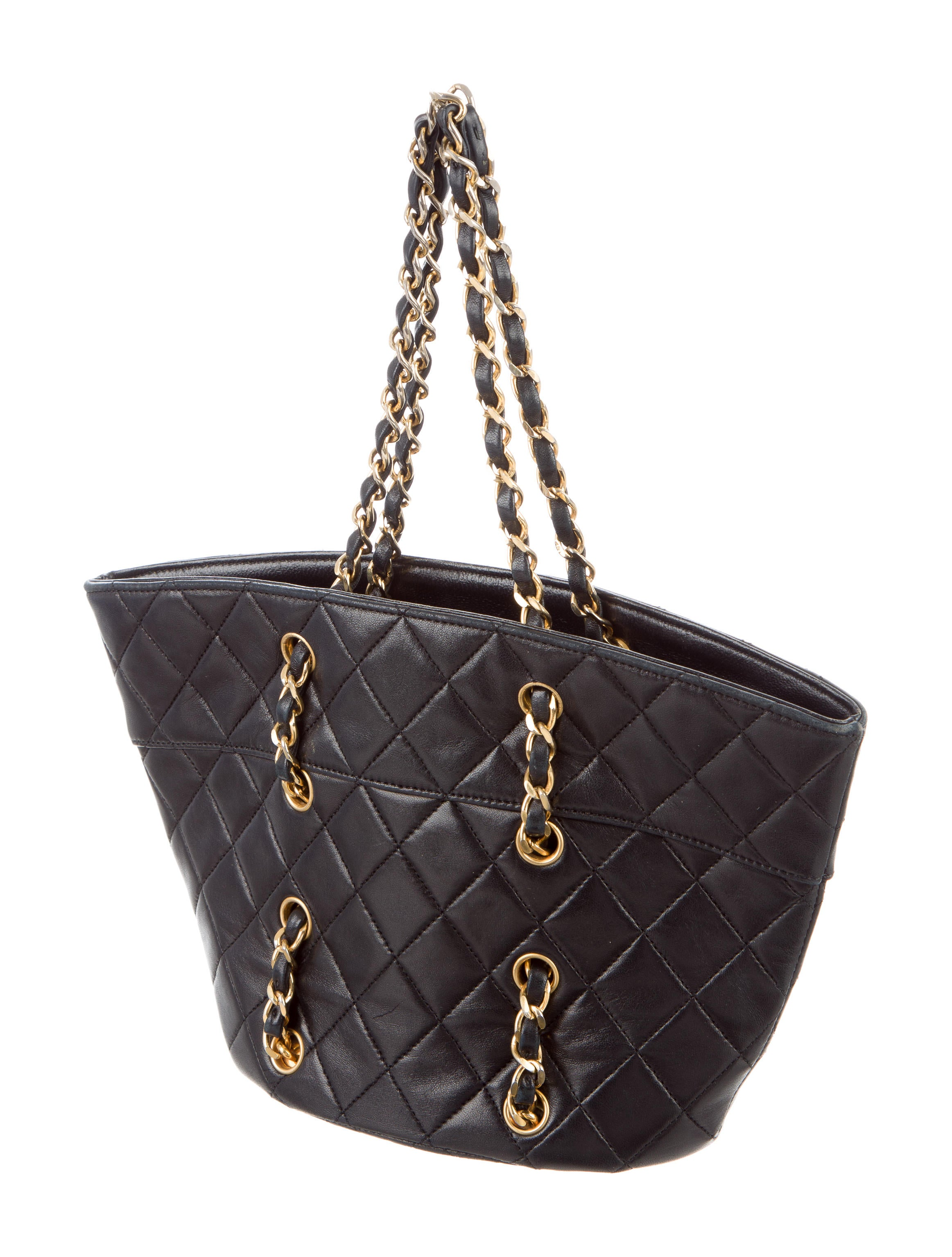 Chanel Quilted Mini Chain Tote