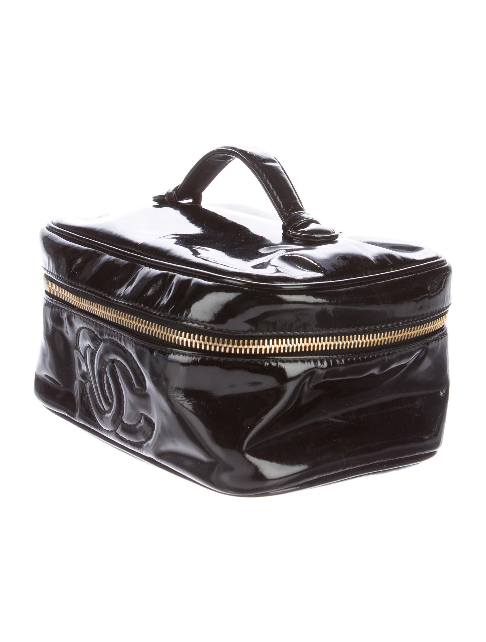 Chanel Patent Leather Vanity Case - Accessories ...
