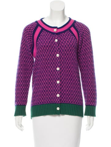 Chanel Cashmere Patterned Cardigan None