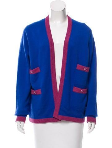 Chanel Cashmere Colorblock Cardigan None