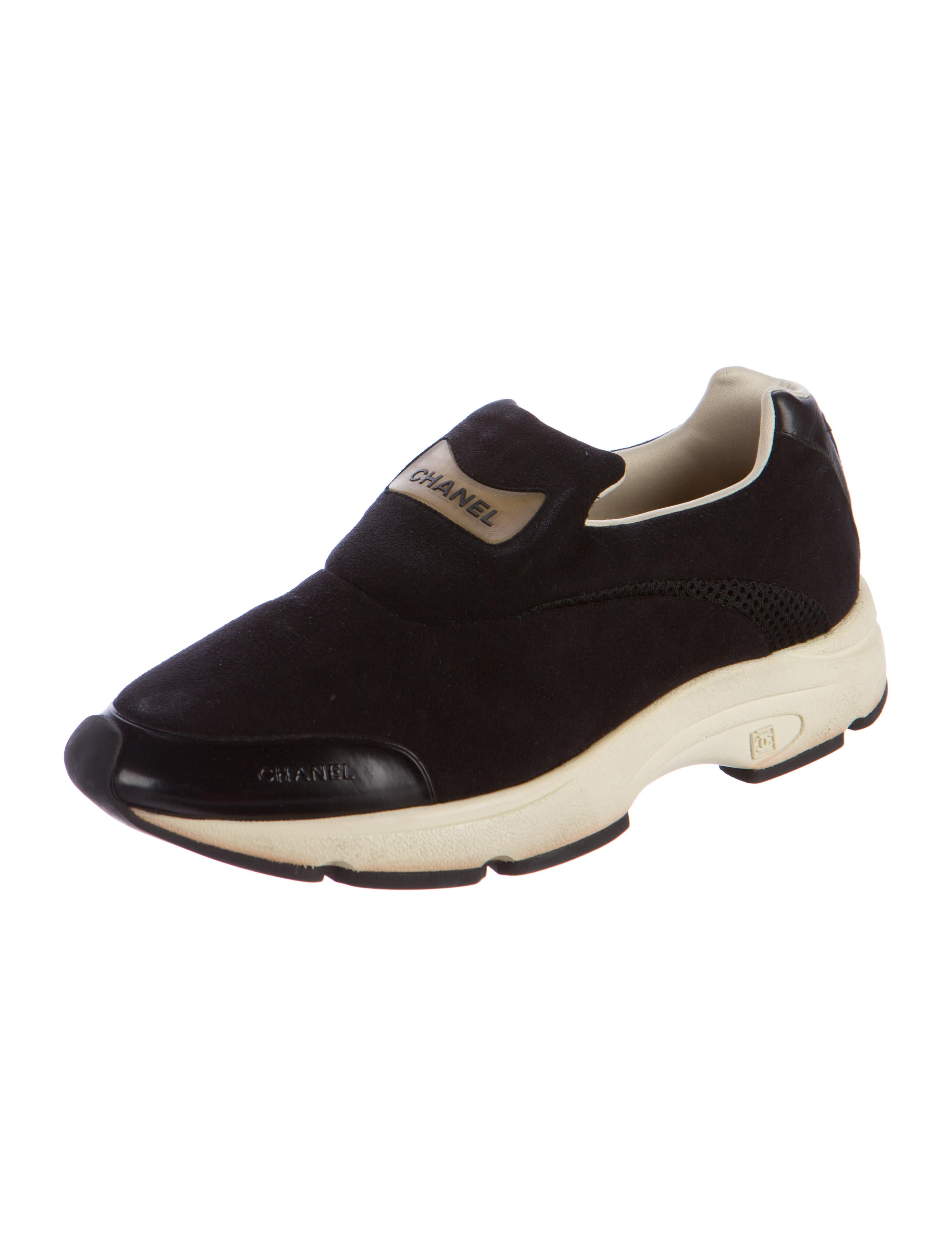 chanel suede slip on sneakers shoes cha177409 the