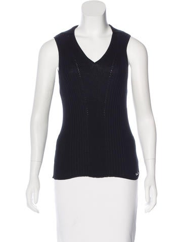 Chanel 2015 Rib Knit Top None