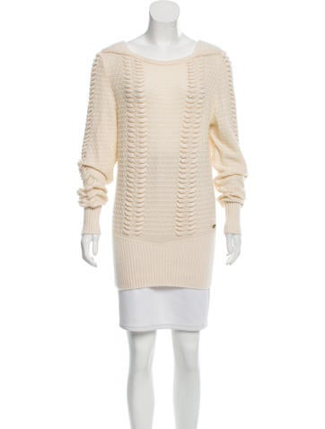 Chanel Textured Cashmere Sweater None