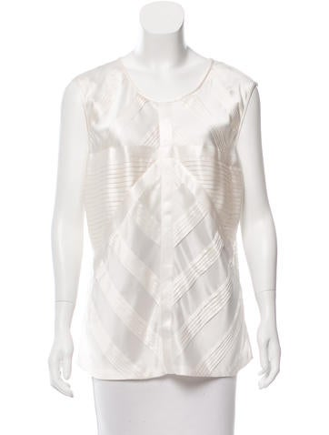 Chanel Silk Tiered Top w/ Tags None