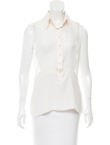 Chanel Sheer Silk Top None