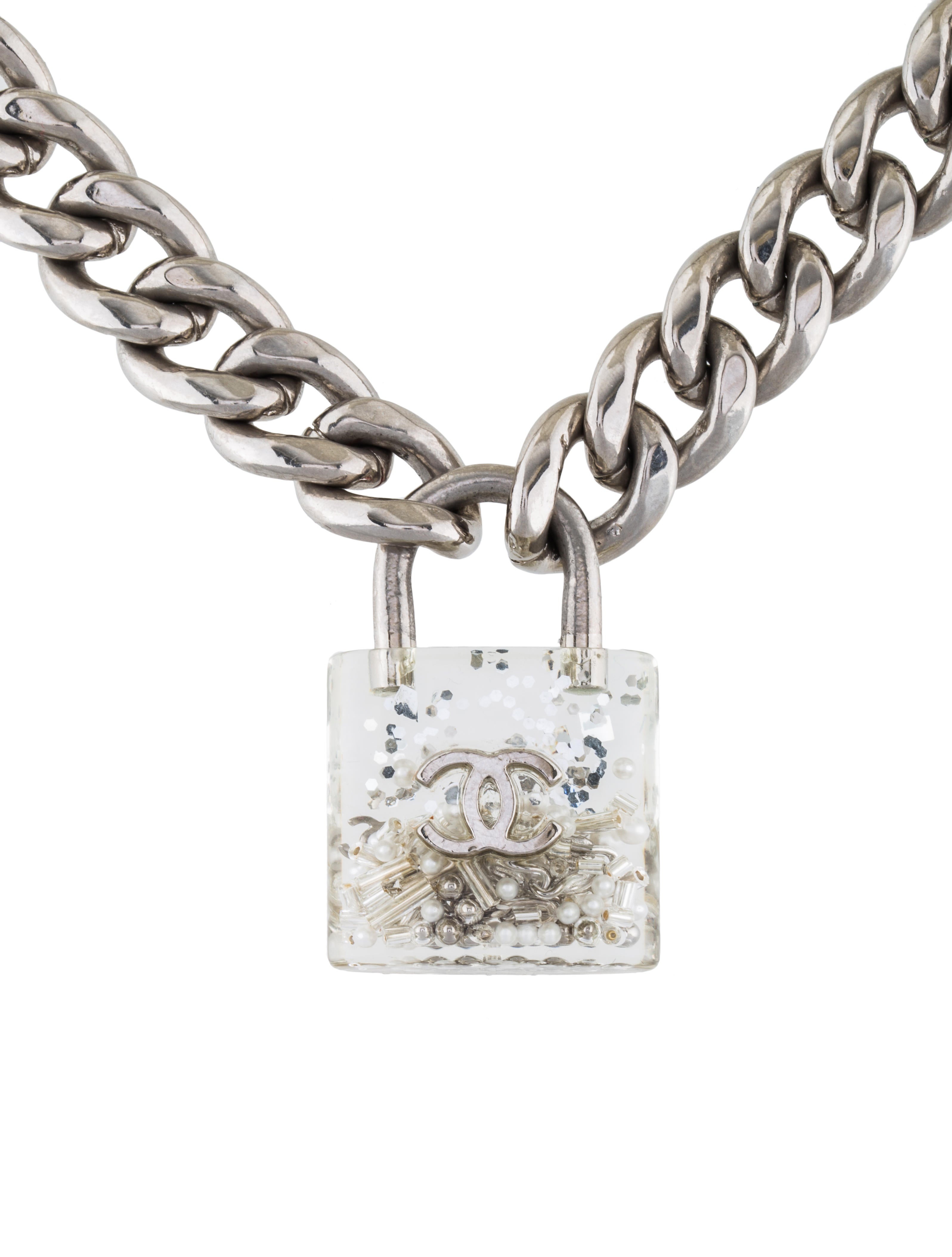 Chanel Small Padlock Curb Chain Necklace Necklaces