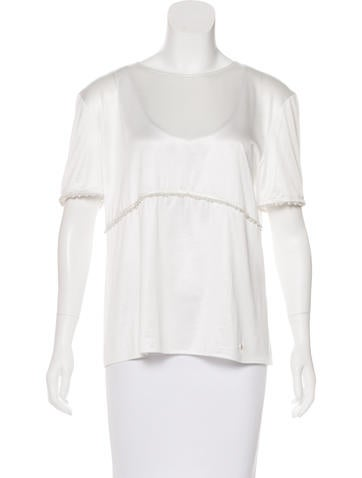 Chanel Embellished Knit Top None