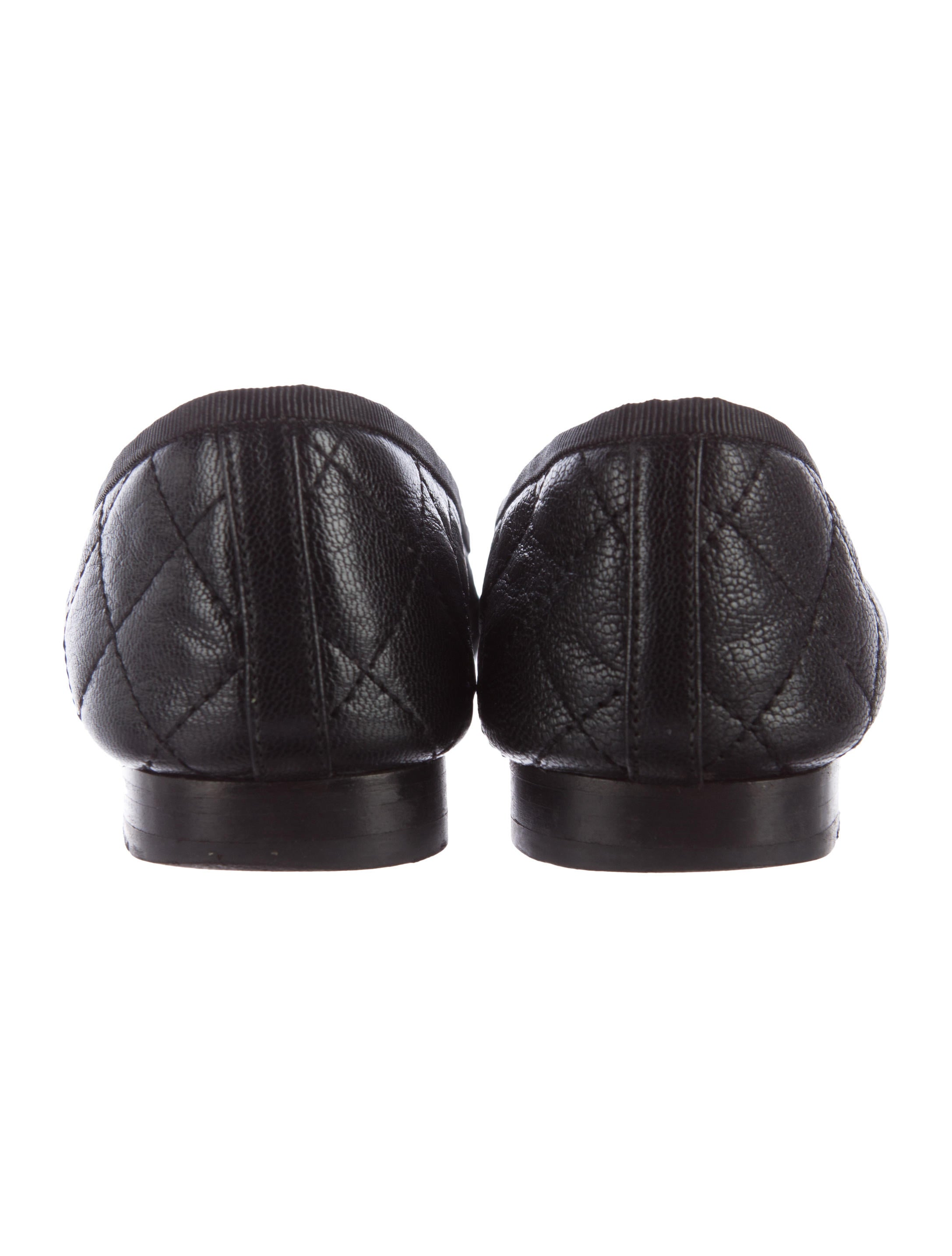 Chanel Cc Quilted Leather Ballet Flats Shoes Cha178184