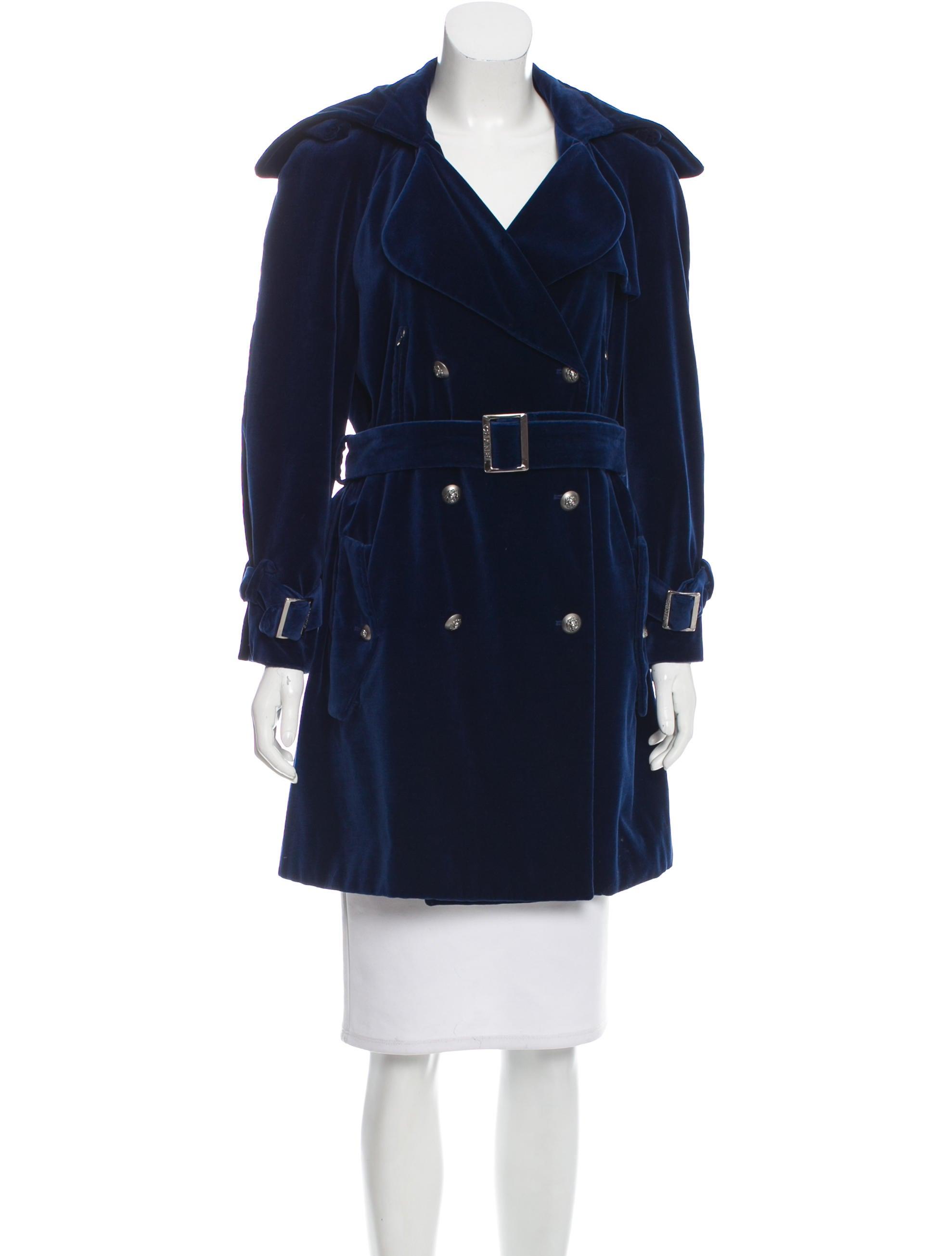 Chanel Velvet Double Breasted Coat Clothing Cha178598