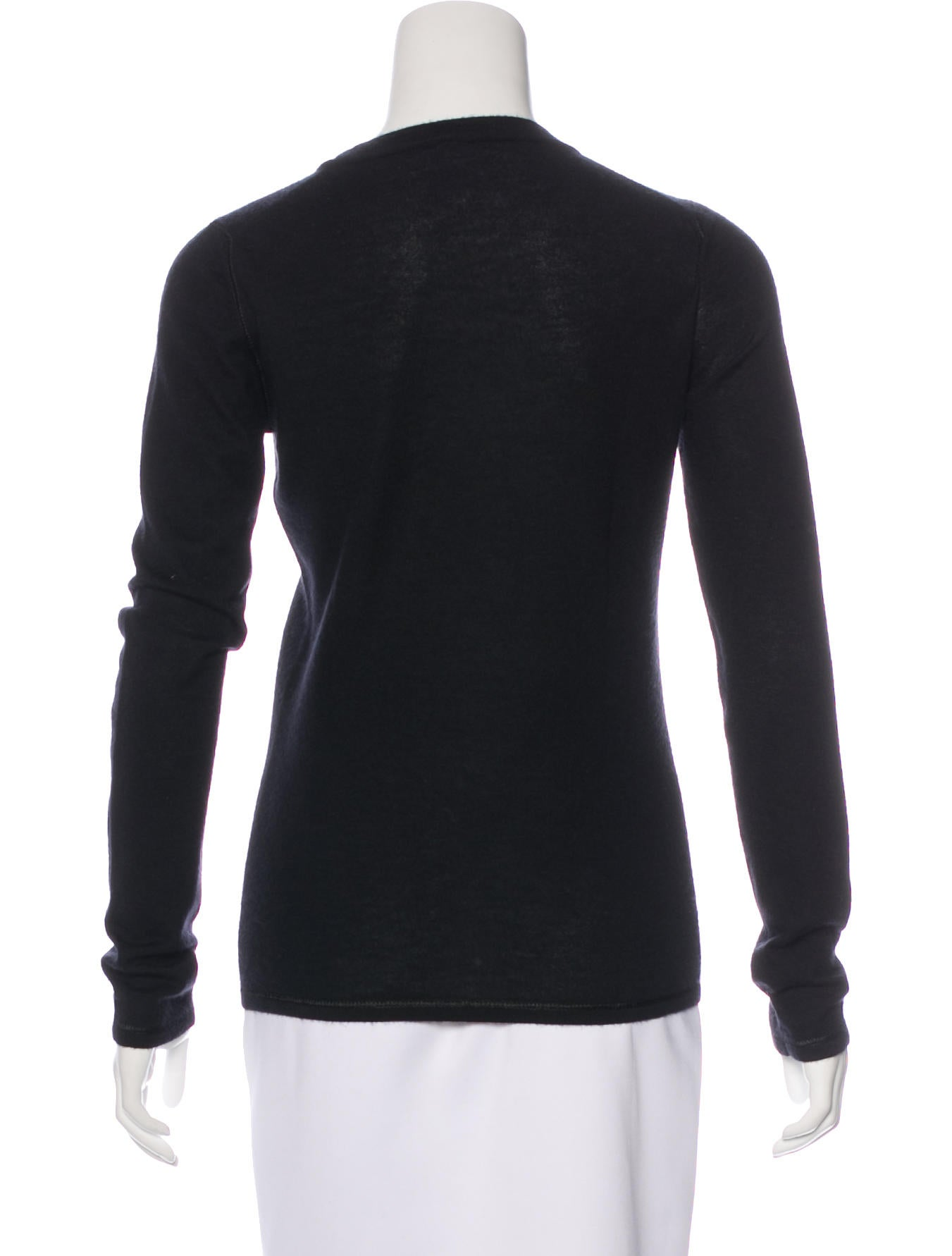 Chanel cashmere long sleeve sweater clothing cha179092 for Long sweaters and shirts