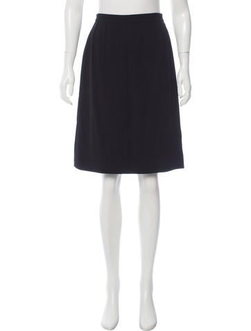 Chanel Vintage Wool Skirt None