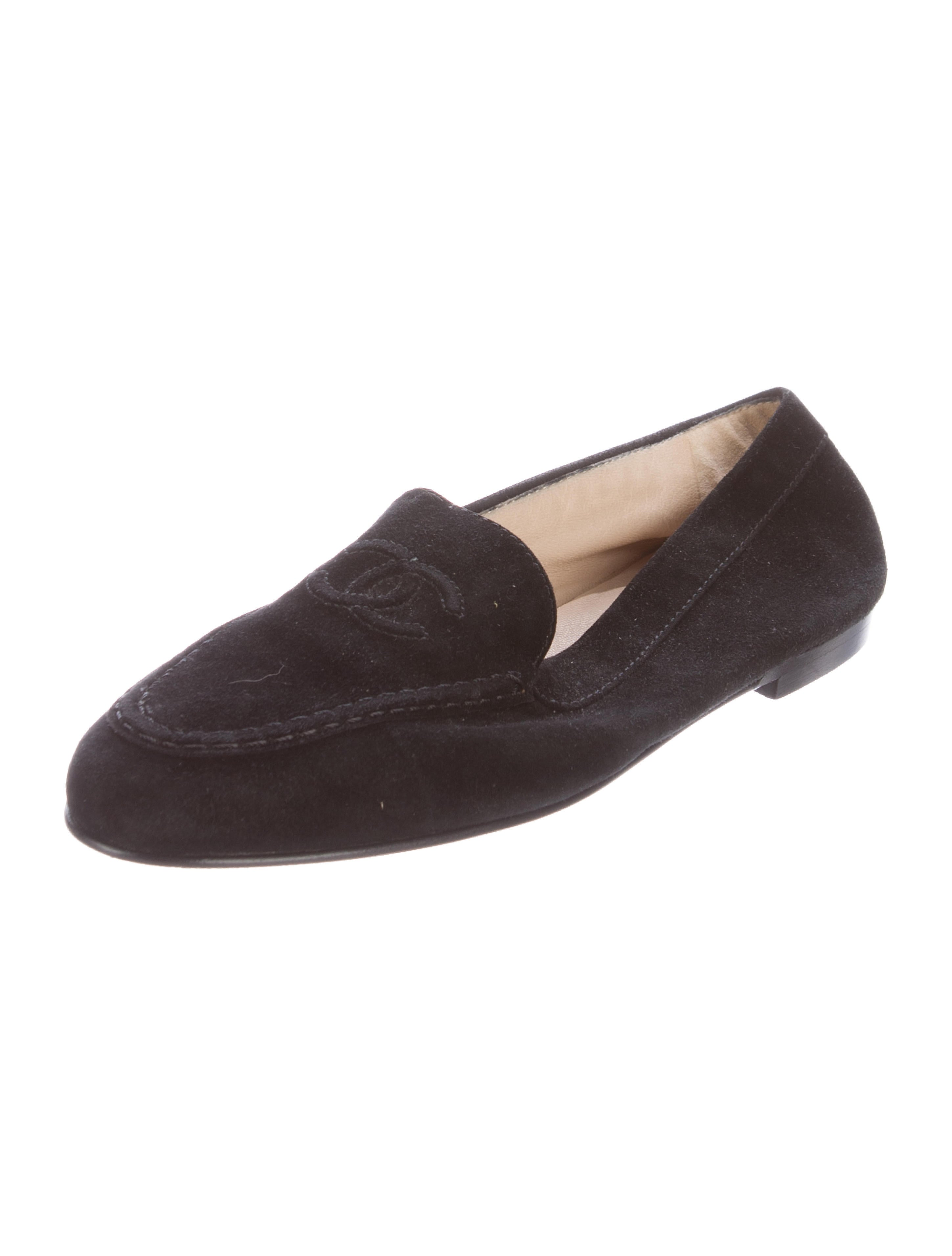 Chanel Suede CC Loafers - Shoes - CHA179611 | The RealReal