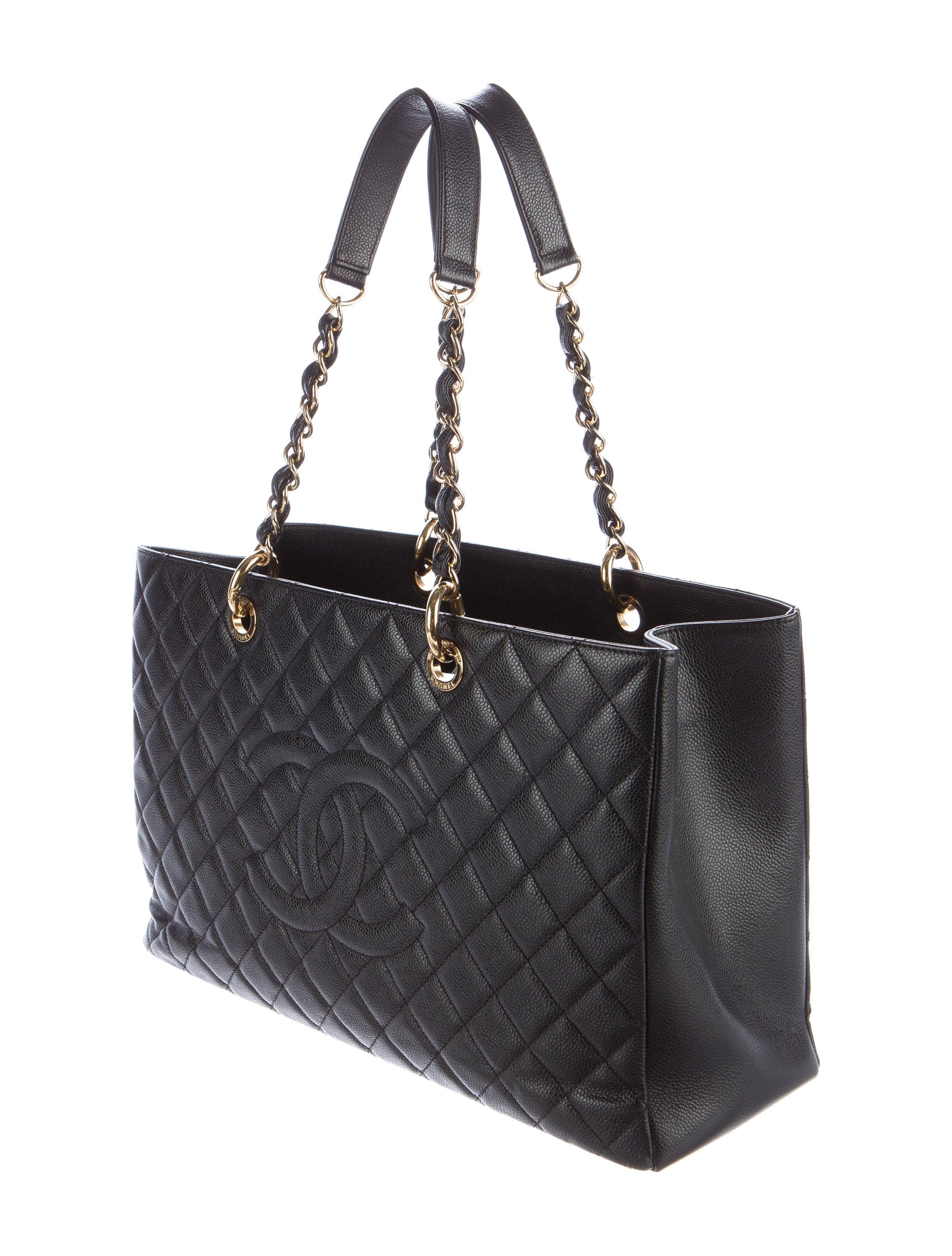 Chanel Caviar Xl Grand Shopping Tote Handbags