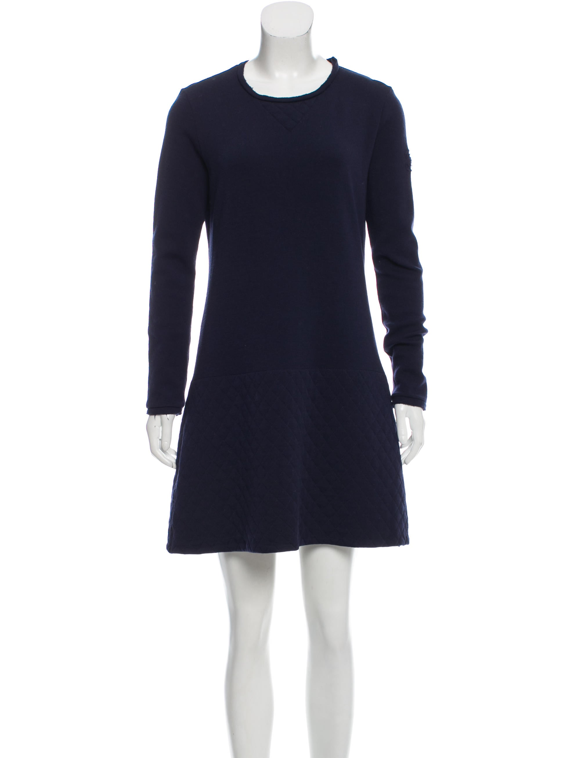 Chanel Quilted Wool Dress Clothing Cha180865 The