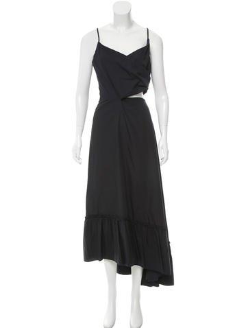 Chanel Cutout Ruffle-Trimmed Dress None