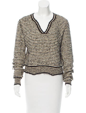 Chanel Woven Striped Sweater None